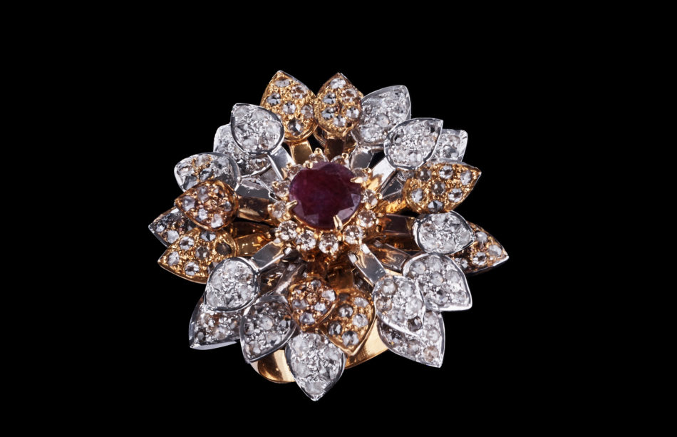 Royal Flower Cluster Ring